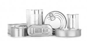 Assortment of food tin can