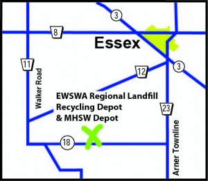 Map of Municipal Household and Special Waste Depot in Essex