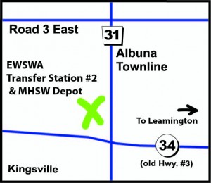Map of Municipal Household and Special Waste Depot in Kingsville