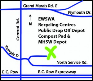 Map of the Municipal Household and Special Waste Depot in Windsor
