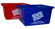 Photo of a mini red box and mini blue box