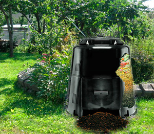 Photo of a backyard composter