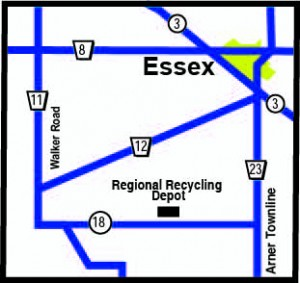 Map of Regional Recycling Depot in Essex